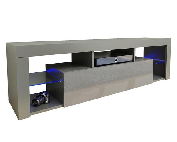 Meble Furniture Milano 160 Gray Wall Mounted Floating 63 Inch TV Stand MBL-MILANO160WALLMOUNTEDGRAY