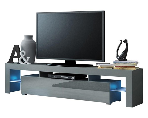 Meble Furniture Milano 200 Gray 79 Inch TV Stand MBL-MILANO200GRAY