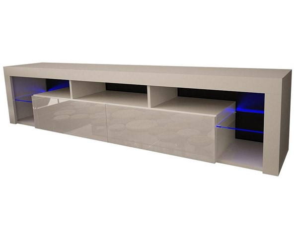 Meble Furniture Milano 200 White Wall Mounted Floating 79 Inch TV Stand MBL-MILANO200WALLMOUNTEDWHITE