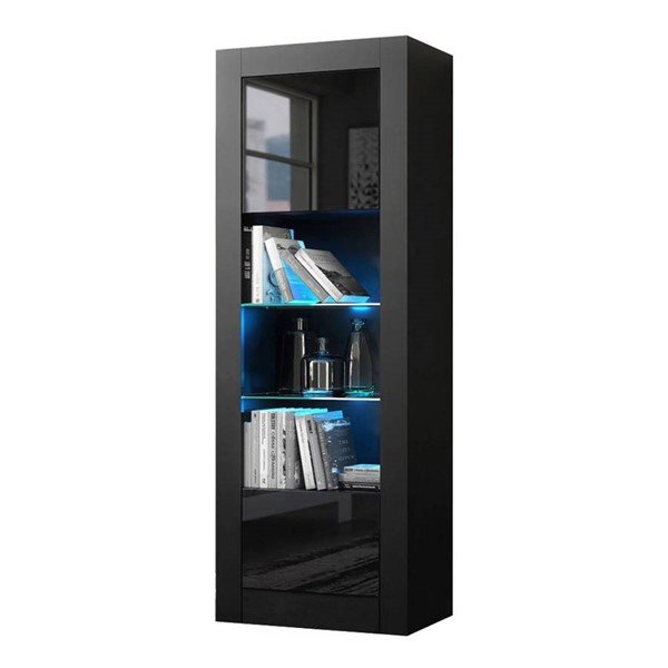 Meble Furniture Milano Black 25 Inch Bookcase MBL-MILANOBOOKCASEBLACK