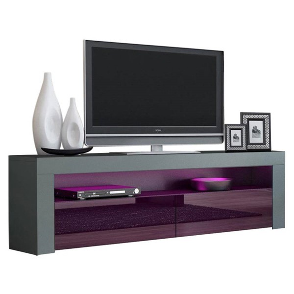 Meble Furniture Milano Classic Gray Violet 63 Inch TV Stand MBL-MILANOCLASSICGRAYVIOLET
