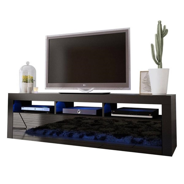Meble Furniture Milano Classic Black Wall Mounted Floating 63 Inch TV Stands MBL-MILANOCLASSICWALLMOUNTED-TV-VAR