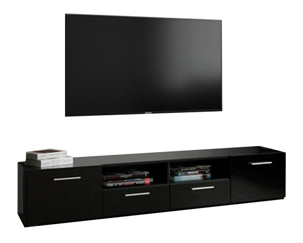 Meble Furniture Modica Black 67 Inch TV Stand MBL-MODICATVSTANDBLACK