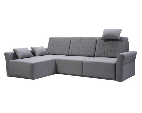 Meble Furniture Molly Gray Futon Sectional Sofa Bed MBL-MOLLYGRAY