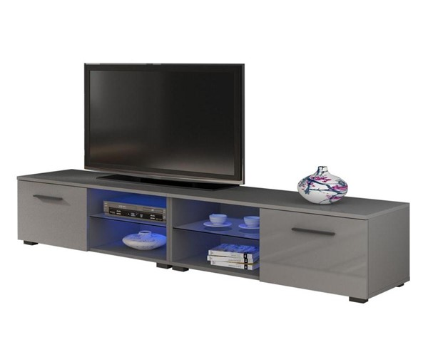 Meble Furniture Moon Gray 82 Inch TV Stand MBL-MOON81GRAY