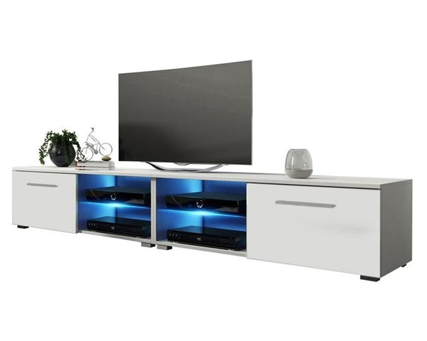 Meble Furniture Moon White 82 Inch TV Stand MBL-MOON81WHITE