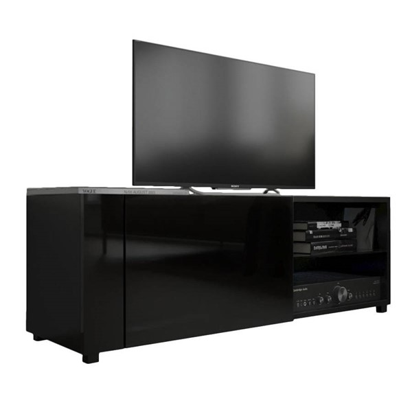 Meble Furniture New Best Black Wall Mounted Floating 39 Inch TV Stand MBL-NEWBEST1XBLACK
