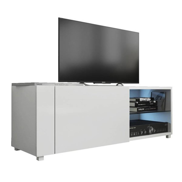 Meble Furniture New Best White Wall Mounted Floating 39 Inch TV Stand MBL-NEWBEST1XWHITE