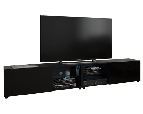 Meble Furniture New Best Black Wall Mounted Floating 78 Inch TV Stand MBL-NEWBEST2XBLACK