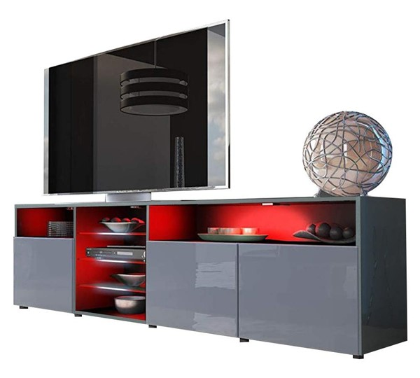 Meble Furniture Roma Gray 79 Inch TV Stand MBL-ROMAGRAY