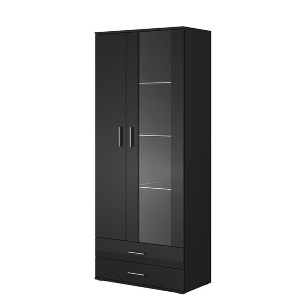 Meble Furniture Soho S6 2D2S Black 32 Inch Bookcase MBL-SOHOS6BLACK