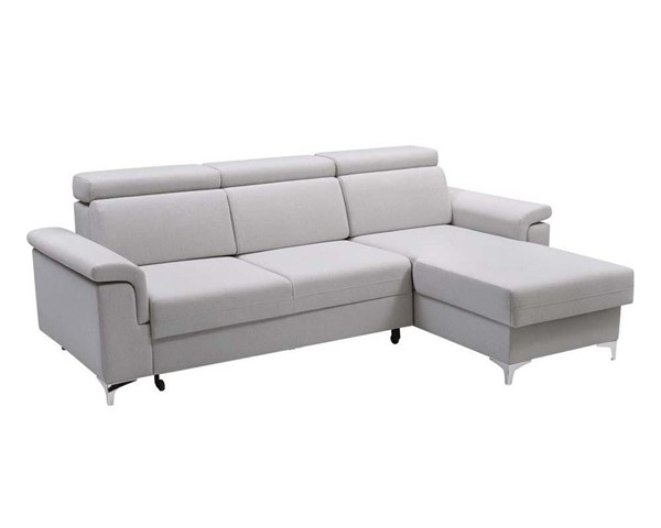 Meble Furniture Vermont Gray Futon Sectional Sofa Bed MBL-VERMONTGRAY