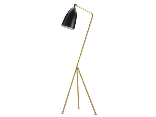 Mobital Stickman Gold Black Aluminium Shade Floor Lamp MBT-ALFSTICBLACBRASS