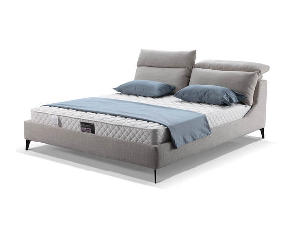 Mobital Chillout Boucle Stone Queen Platform Bed MBT-BEDCHILSTONQUEEN