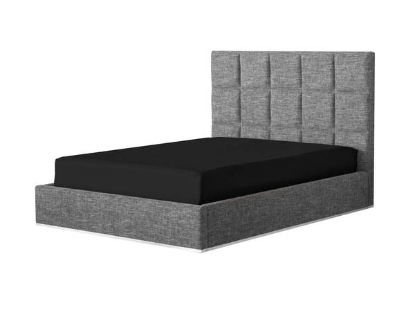Mobital Glare Grey Fabric Queen Platform Bed MBT-BEDGLARFAGRQUEEN