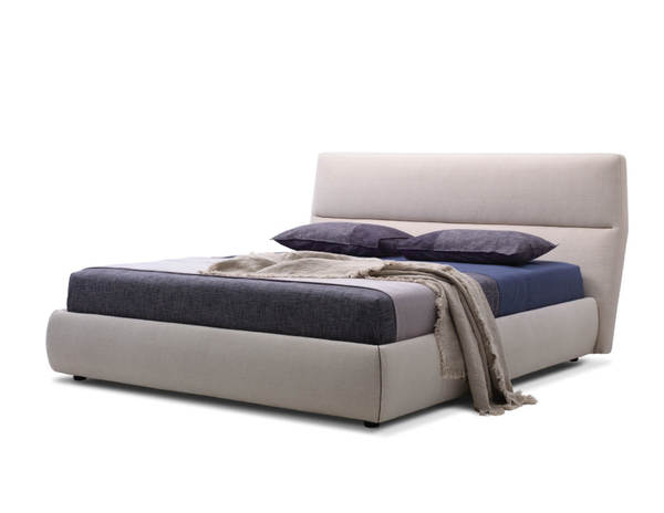 Mobital Lunar Grey Tweed Fabric Platform Beds MBT-BEDLUNA-BEDS-VAR