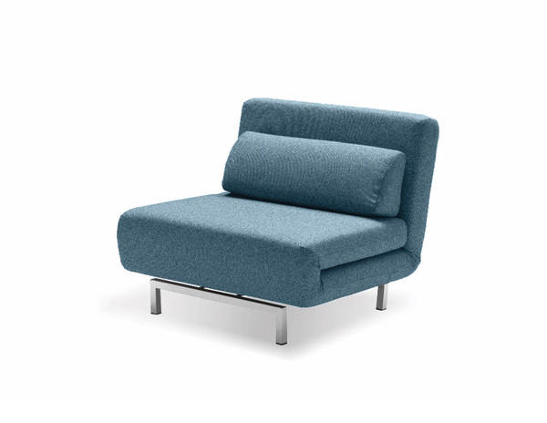 Mobital Iso Peacock Tweed Fabric Metal Chair Bed MBT-CHAISO1PEACTWEED