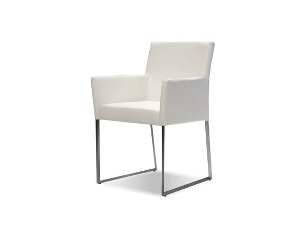 Mobital Tate White Faux Leather Arm Chair MBT-DARTATEWHIT