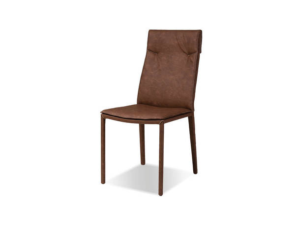 2 Mobital Harris Brown Faux Leather Dining Chairs MBT-DCHHARRBROW