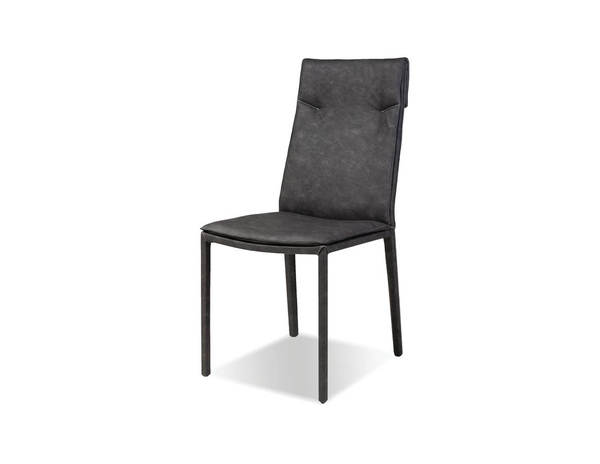 2 Mobital Harris Grey Faux Leather Dining Chairs MBT-DCHHARRGREY