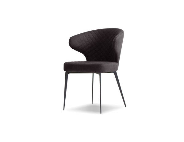 Mobital Hug Anthracite Fabric Dining Chair MBT-DCHHUG9ANTH