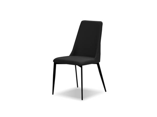 2 Mobital Seville Black Faux Leather Dining Chairs MBT-DCHSEVIBLACBLACK