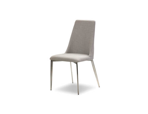 4 Mobital Seville Heather Grey Fabric Dining Chairs MBT-DCHSEVIHEATBRUSH