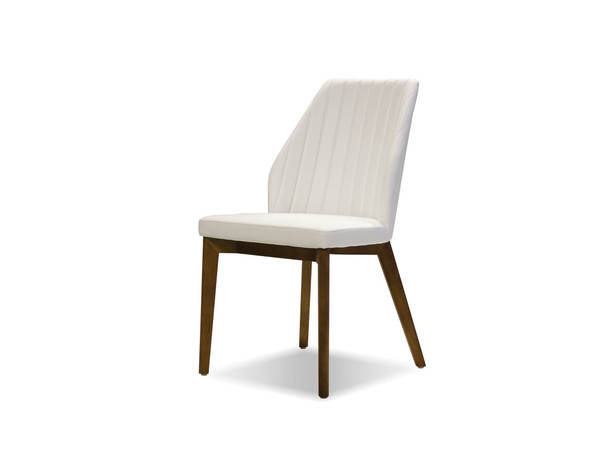 2 Mobital Totem White Faux Leather Dining Chairs MBT-DCHTOTEWHIT