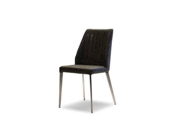 2 Mobital Toto Black Faux Leather Dining Chairs MBT-DCHTOTOBLACBRUSH