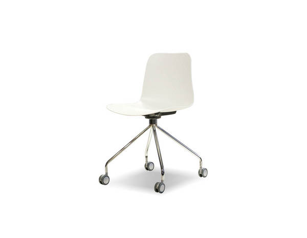 2 Mobital Trask White Polypropylene Dining Chairs MBT-DCHTRASWHITGLIDE