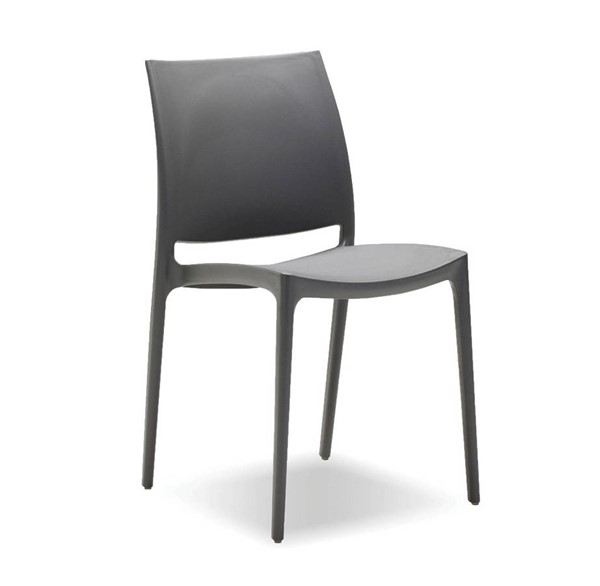 4 Mobital Vata Grey Polypropylene Dining Chairs MBT-DCHVATAGREY