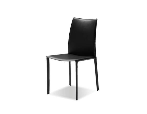 2 Mobital Zak Black Leather Dining Chairs MBT-DCHZAKBBLAC