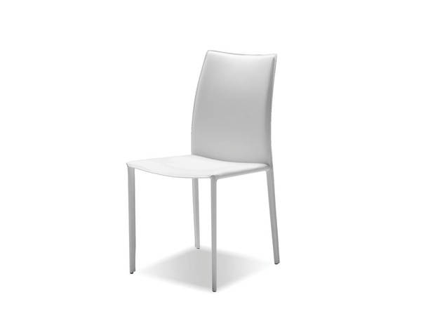 2 Mobital Zak White Leather Dining Chairs MBT-DCHZAKBWHIT