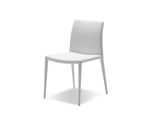 2 Mobital Zeno White Faux Leather Dining Chairs MBT-DCHZENOWHIT