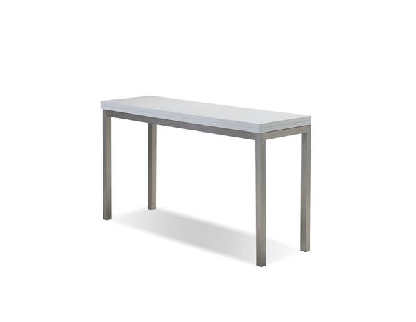 Mobital Alure White PU Console Dining Table MBT-DTAALURWHITBRUSH
