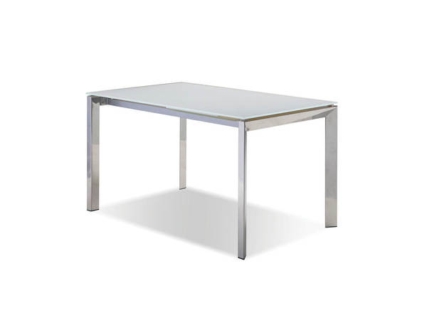 Mobital Ghost White Glass Rectangle Dining Table MBT-DTAGHOSWHIT