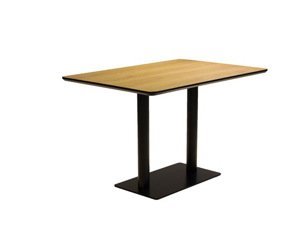 Mobital Half Pint Black Rectangle Large Dining Table MBT-DTAHPINWALNRECTL