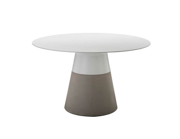 Mobital Maldives White Solid Surface 49 Inch Dining Table MBT-DTAMALDWHIT49IN