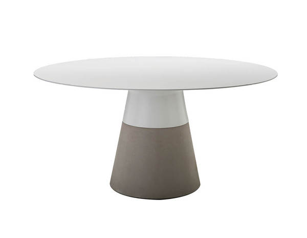 Mobital Maldives White Solid Surface 63 Inch Dining Table MBT-DTAMALDWHIT63IN