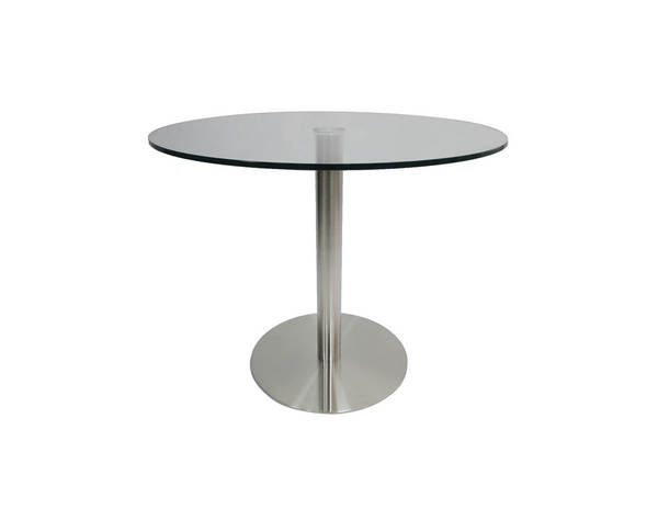 Mobital Radius Clear Glass Round Dining Table MBT-DTARADICLEA36ROU