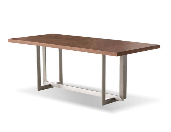 Mobital Remi Natural Walnut Wood Dining Table MBT-DTAREMIWALN