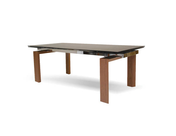 Mobital Tottenham Walnut Smoke Glass Dining Table MBT-DTATOTTGREY