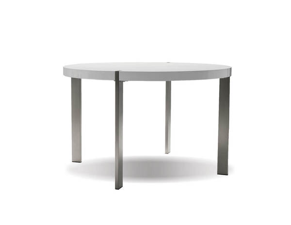 Mobital Voom White Gloss PU Dining Table MBT-DTAVOOMWHIT