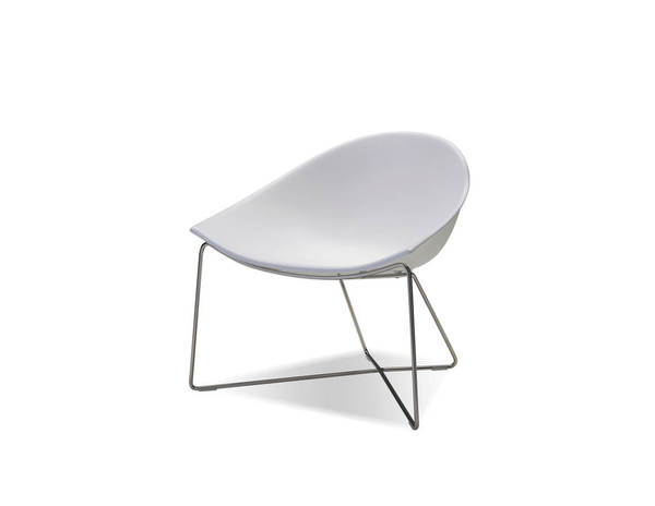 2 Mobital Paraiso White Solid Surface Lounge Chairs MBT-LCHPARAWHIT