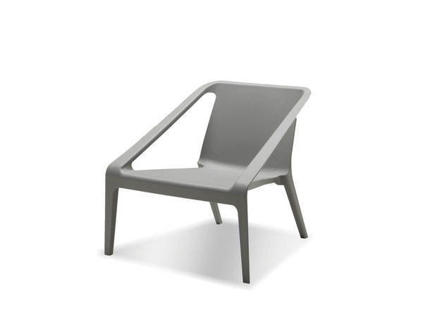 4 Mobital Yumi Grey Polypropylene Lounge Chairs MBT-LCHYUMIGREY