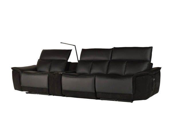 Mobital Modulate Black Fabric Leather Sectional MBT-RECMODUMIDN4PCS