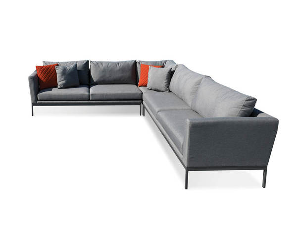 Mobital Huntington Carbon Grey Fabric Sectional MBT-SECHUNTCARB3PCS
