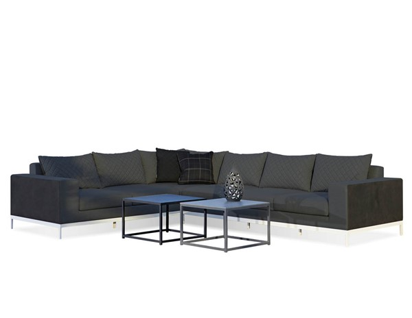 Mobital Jericho Charcoal Grey Fabric Sectional MBT-SECJERICHAR