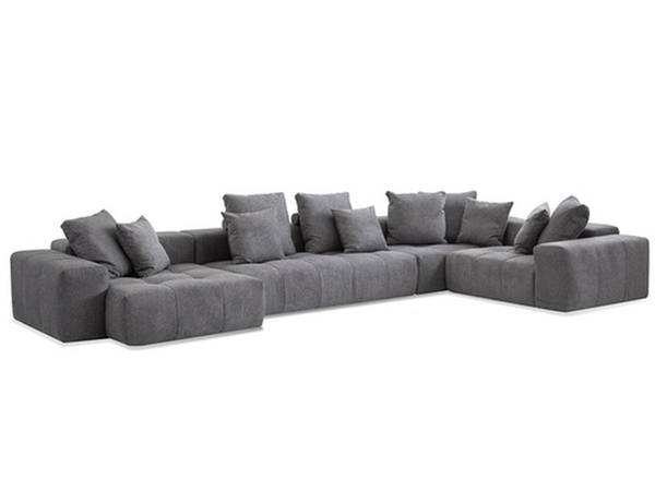Mobital Mallow Smoke Grey Chenille Sectional MBT-SECMALLSMOK