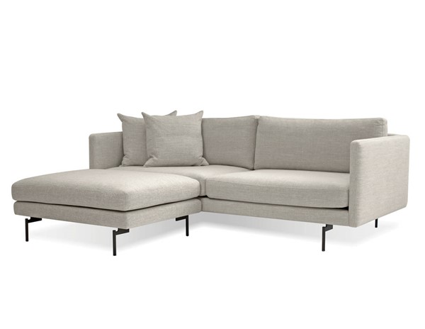 Mobital Tux Black Light Grey Fabric Sectional MBT-SECTUX9LGRE